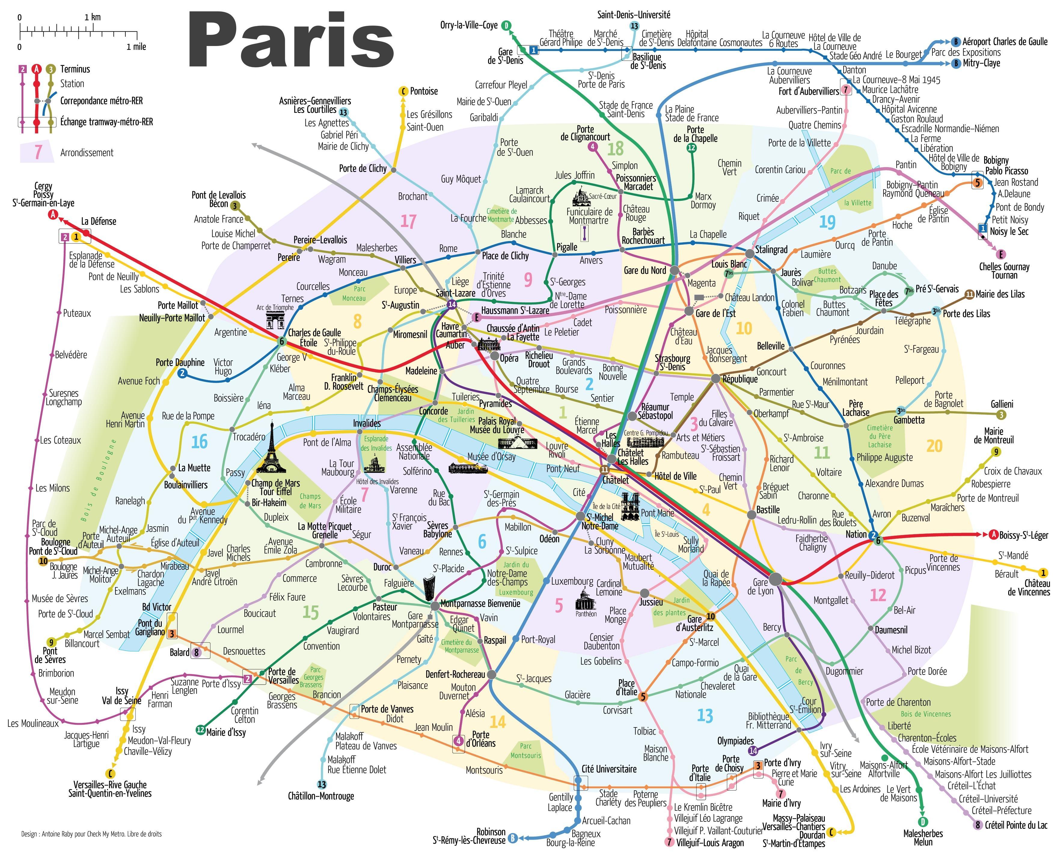 Egy Terkep Parizs Franciaorszag Parizs Terkep Mutatja