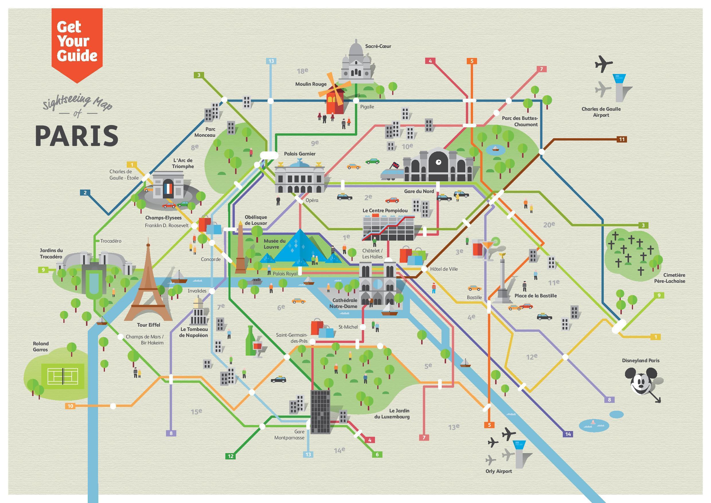 Parizs Latvanyossagok Terkep Latnivalok Parizs Terkep Ile De