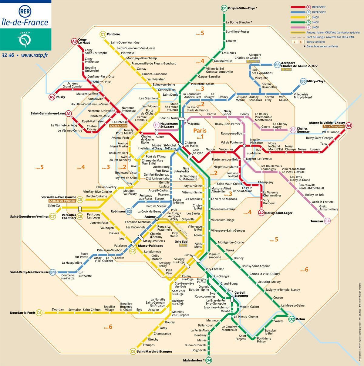 Parizsi Metro Zona Terkep Parizs Zona Terkepen Metro Ile De