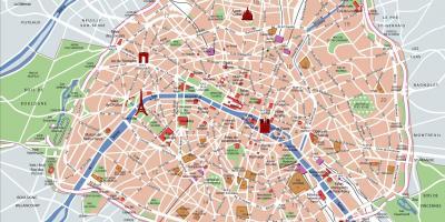 Parizs Terkep Terkep Parizs Ile De France Franciaorszag